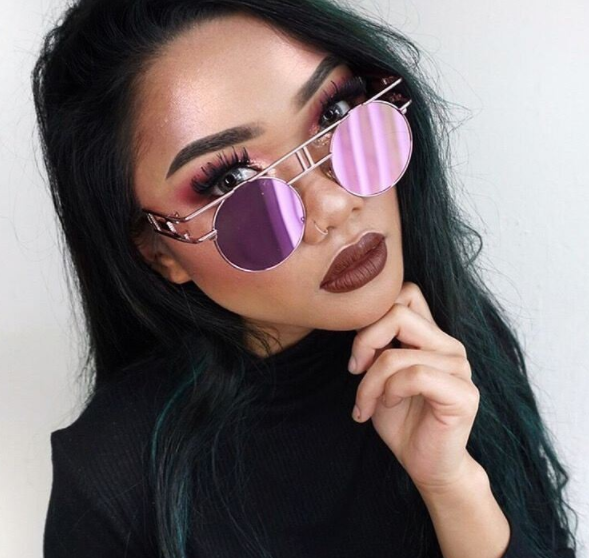 Round Circle Mirror Lens Vanilla Sunnies