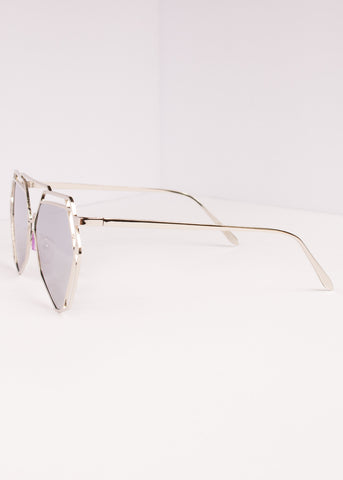 Aviator Mirrored Lens Velvetine Sunnies