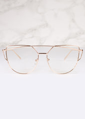 Clear Lens Giant Velvet Glasses