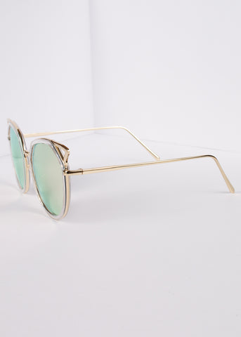 Cat Eye Mirrored Kitty Sunnies