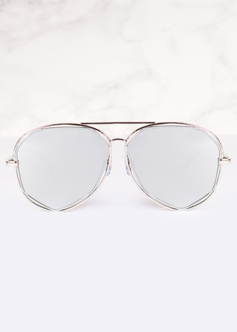 Aviator Mirrored Lens Tanya Sunnies