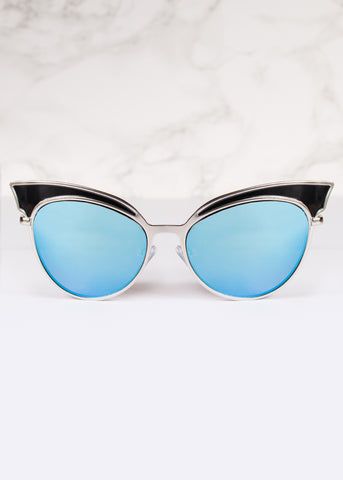 Cat Eye Mirrored Lens Venus Sunnies