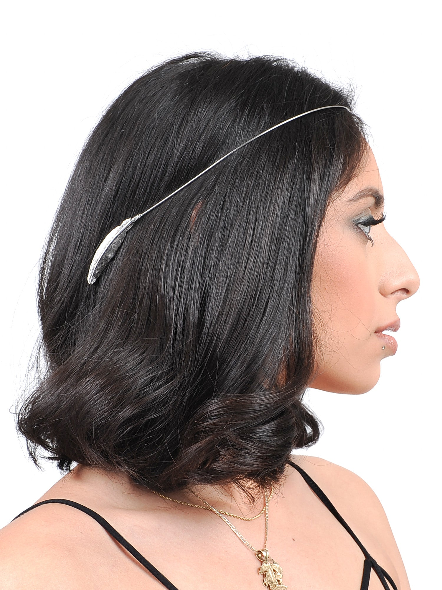 Silver Leaf Head Piece - Gold Soul