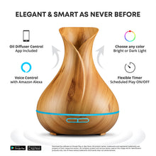 Load image into Gallery viewer, Smart Essential Oil Aromatherapy Diffuser (with Voice Control)