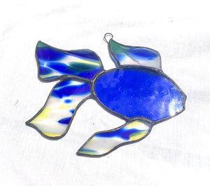 Stained Glass Koi Fish Suncatcher