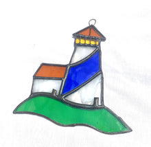 Load image into Gallery viewer, Stained Glass Lighthouse Suncatcher