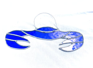 Stained Glass Blue Crab Suncatcher