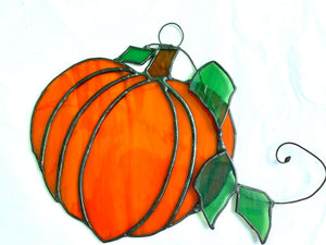 Stained Glass Orange Pumpkin