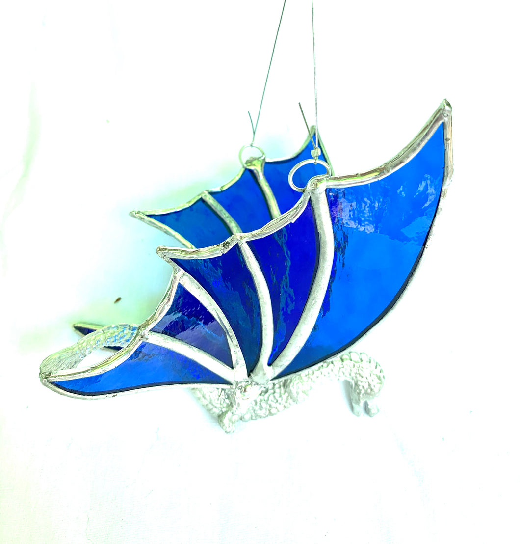 Stained Glass Hanging Dragon