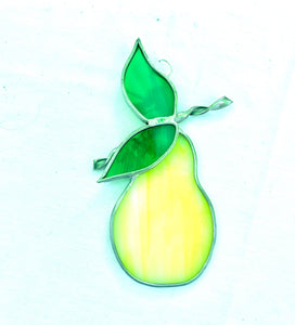 Stained Glass Pear Suncatcher