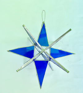 Stained Glass 3-D Stars