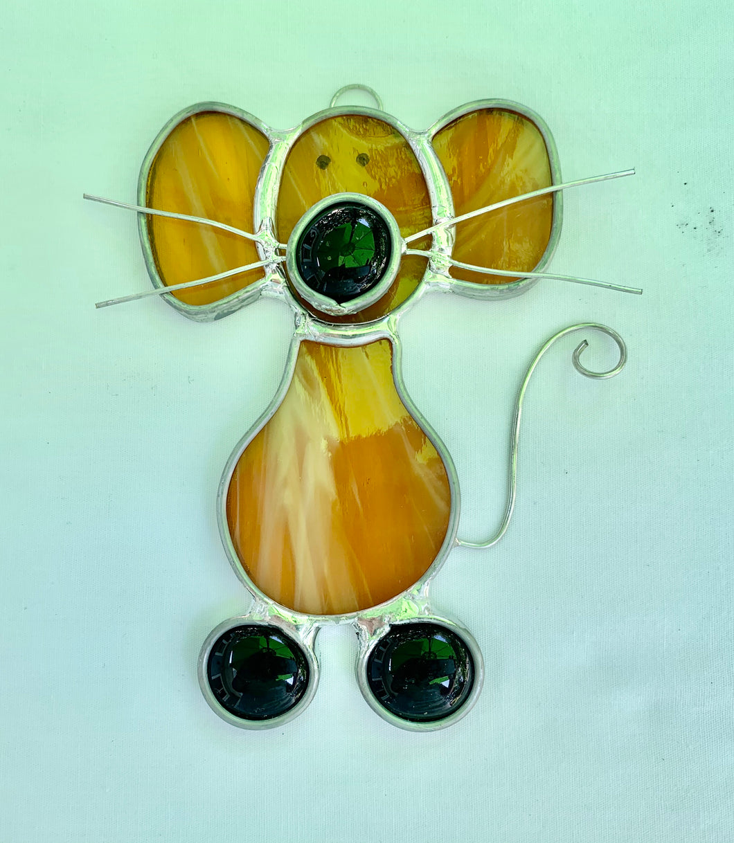 Stained Glass Mouse Suncatcher