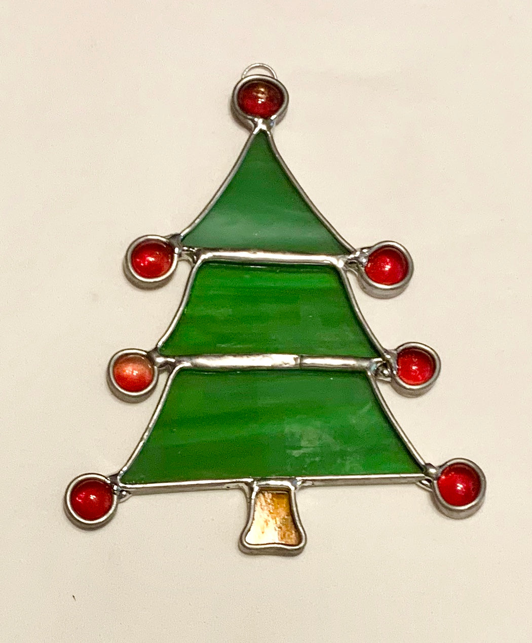 Stained Glass Christmas Tree Suncatcher