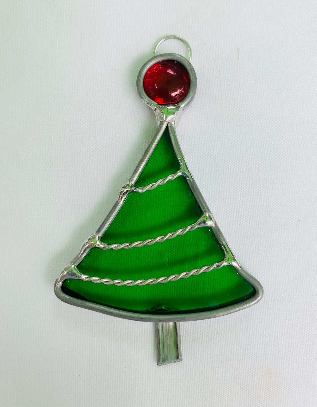 Stained Glass Leaded Christmas Tree Ornament