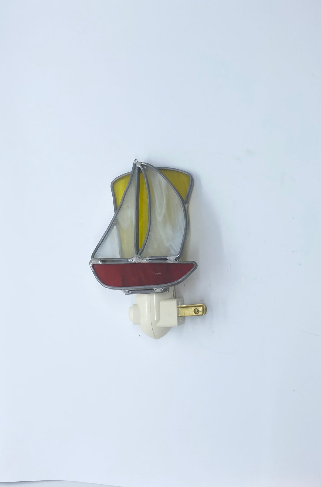 Stained Glass Boat Nightlight