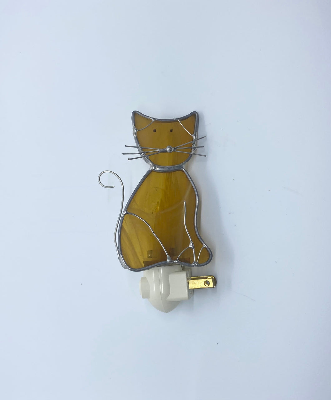 Stained Glass Cat Nightlight