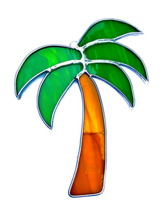 Stained Glass Small Palm Tree