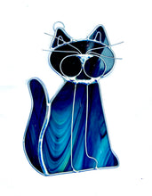 Load image into Gallery viewer, Stained Glass Cat Suncatcher