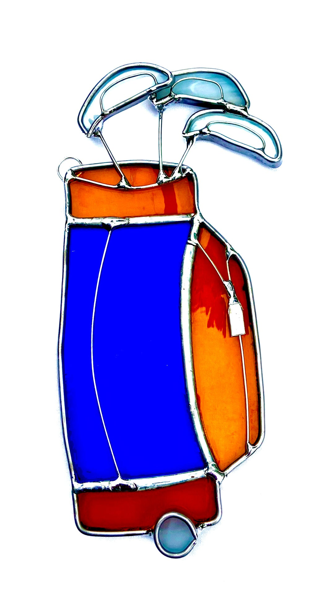 Stained Glass Golf Clubs Suncatcher