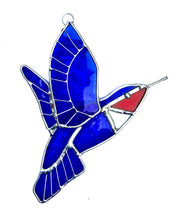 Load image into Gallery viewer, Stained Glass Hummingbird Suncatcher