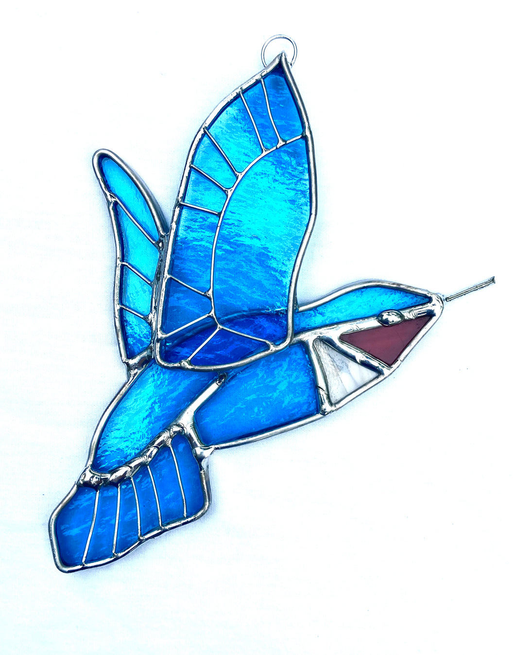 Stained Glass Hummingbird Suncatcher