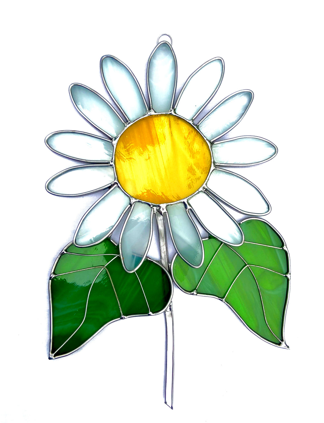 Stained Glass Daisy Suncatcher