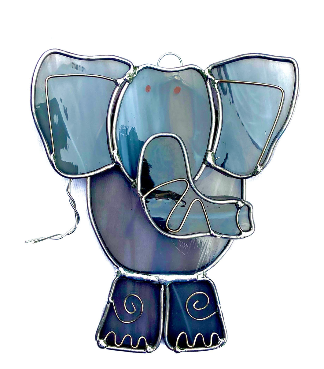 Stained Glass Elephant Suncatcher