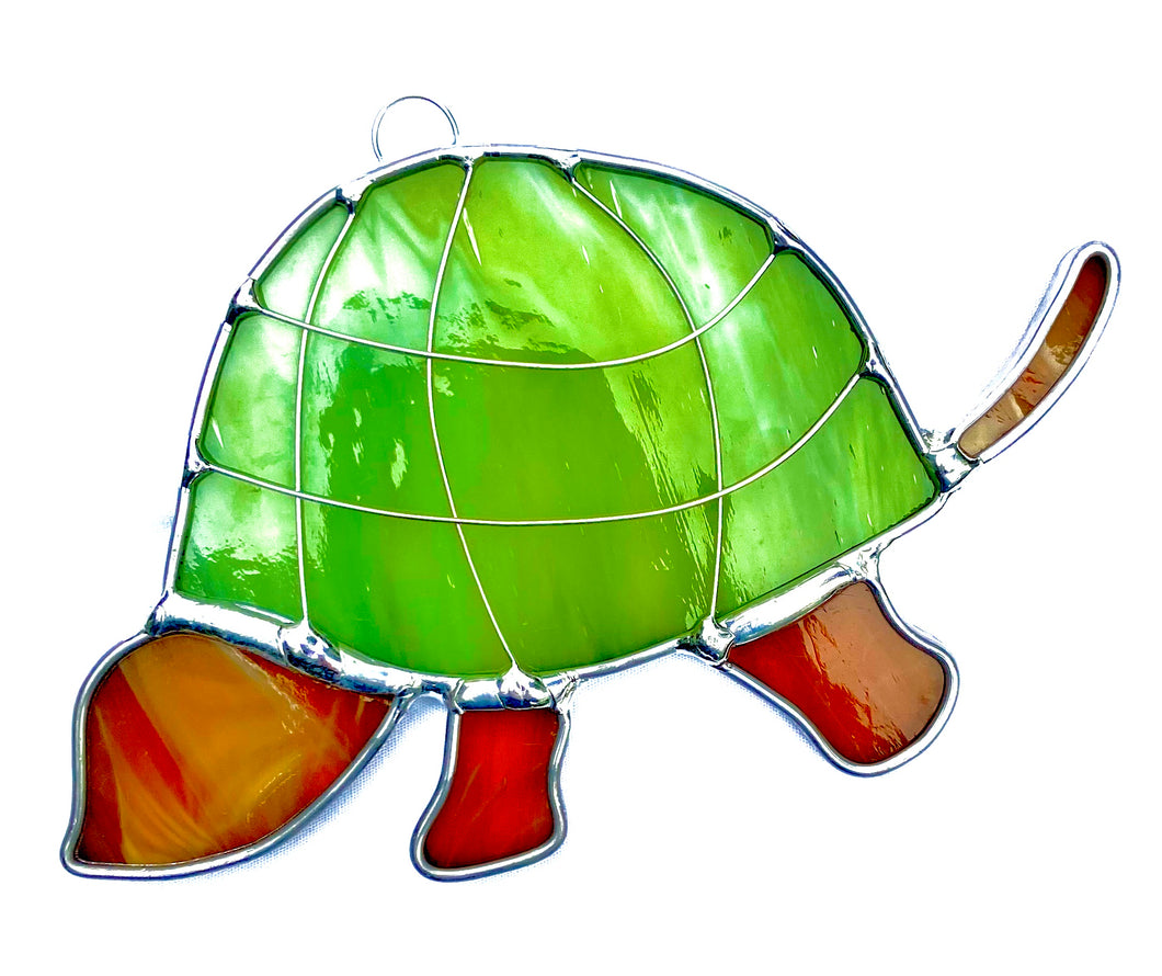Stained Glass Small Turtle Suncatcher