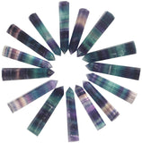 Large Purple Rainbow Fluorite Crystal Tower Point Healing Crystal Wands Quartz Crystal Wand 6 Faceted Reiki Chakra Meditation Therapy