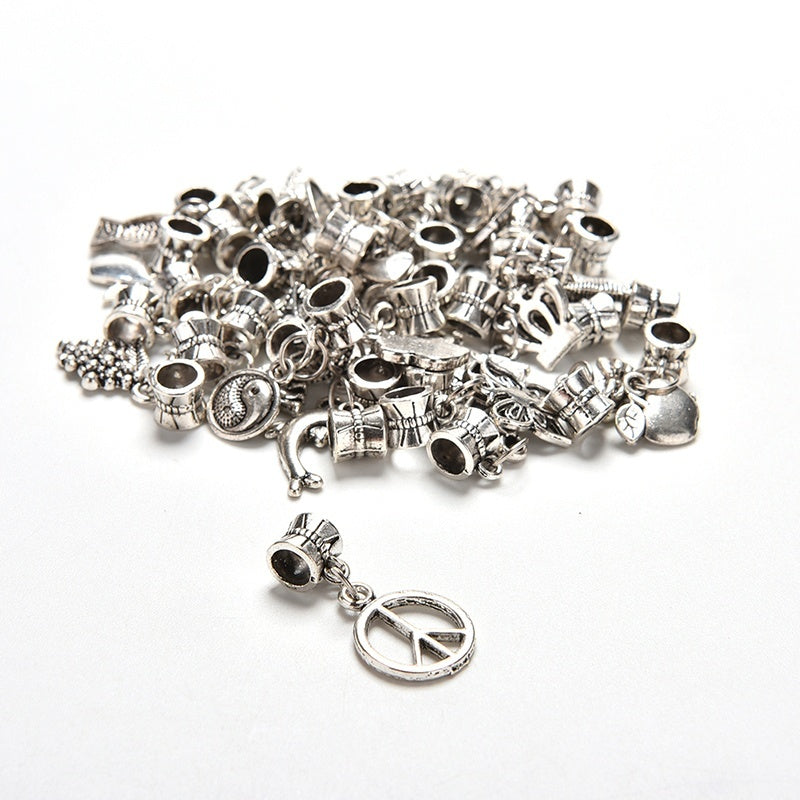 New Style 40Pcs/Set Tibetan Silver Plt Bulk Lots Beads Fit Charm Bracelet Fashion Dream It Possible