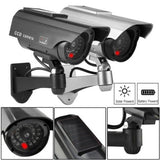 Solar Power Fake Dummy CCTV Security Surveillance Camera LED Outdoor