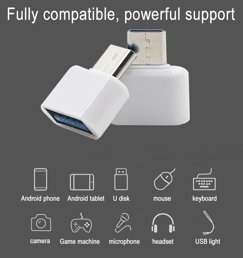 4PCS Micro USB Type-C OTG Cable Adapter Type C USB-C OTG Converter for Xiaomi Huawei Samsung Mouse Keyboard USB Adapter