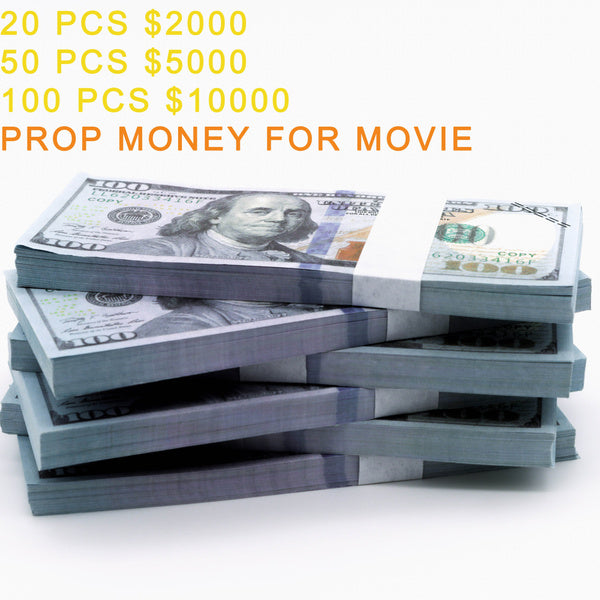 Lisonamerika Movie Prop Money $10000, Copy Money Full Print 2 Sided $100 Dollar Bills Stack,Play Money That Looks Real,New Published Thickening for Movies,TV,Games,Kids and Party