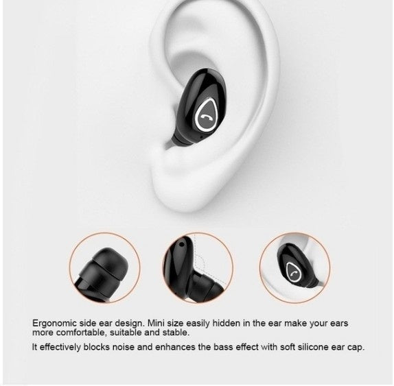 New Wireless Bluetooth Earphone Mini Invisible In-Ear Sports Earbuds with Microphone Super Stereo Headphones