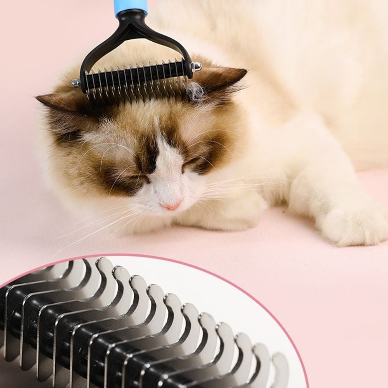 Hair Removal Comb for Dogs Cat Trimming Deshedding Brush Grooming Tools  BUT