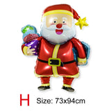 Oversized Multiple Styles Christmas Balloons Santa Claus Foil Balloons Gift Box Globos Christmas Balls Decorations Xmas Ornament