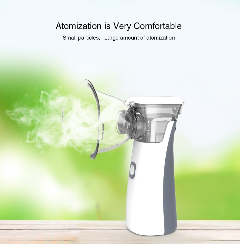 Yongrow Portable Nebulizer Mini Handheld Inhaler Nebulizer Machine for Kids Adult & Non-Contact Forehead Thermometer Gun For Fever Body & Object - 2 PCS