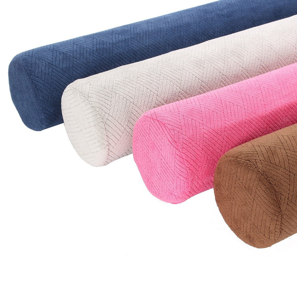 23'' Round Cervical Pillow Roll Memory Foam Bolster Neck Lumbar + Washable Cover