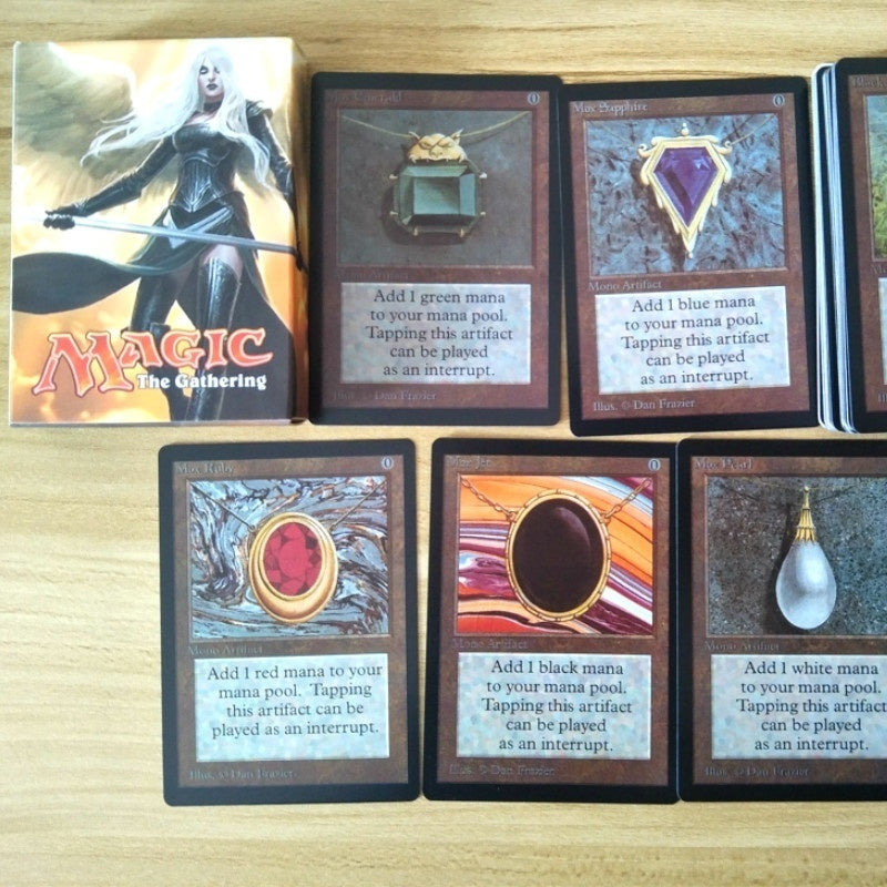 54PCS Vintage MTG Proxy Cards Magic Cards Black Core P9 Black Lotus Ancestral Recall Time Walk Timetwister Mox