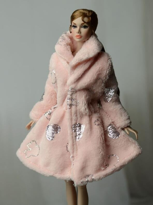 Handmade Multicolor Mini Knitted Sweater Fur Coat Doll Accessories Tops Dress Casual Wear Clothes for Doll Kids Toy