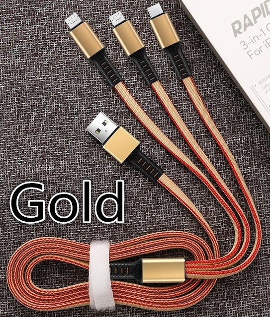 Fast Charging 3 In 1 Multi Type C Cable Micro USB Data Sync Fast Charging for Android IPhone