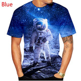 New fashion Men Women 3D Space t shirt Men Women Funny Printed Astronaut Spacesuit t shirt XS-5XL