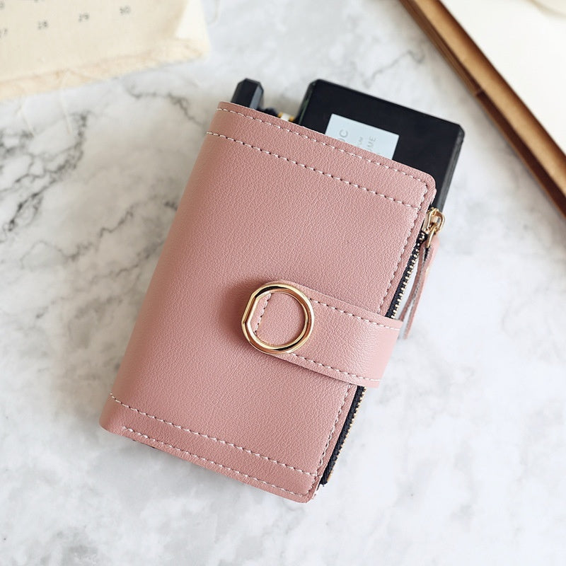 New Fashion Women Wallets Small Leather Short Coin Purse Ladies Card Bag  Clutch  Female Purse Money Clip Wallet