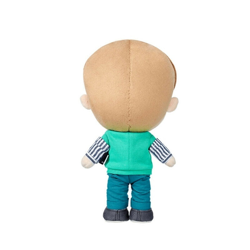 25cm Kpop BTS Cartoon Version Plush Pillow JUNG KOOK SUGA RM JIMIN J-HOPE V JIN Plush Standing Doll Best Gifts for Fans