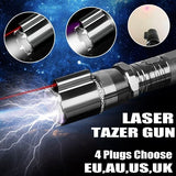 3 In 1 Portable Self-defense Electric Shock LED Flashlight Laser Taser Stun Flashlight