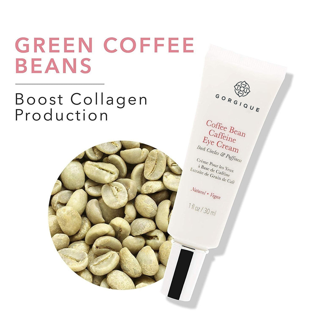 10/20/30/40ml GORGIQUE Coffee Bean Caffeine Eye Cream, 1fl oz, Anti-Inflammatory, Brightens Dark Circles, Concentrated with Potent Anti-Aging Vitamins, Antioxidants, and Nourishing Rosehip Oil