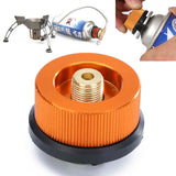 Gas Bottle Adaptor Transfer Nozzle Connector Adaptor f/ Camping BBQ Burner Stove