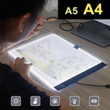 A4 / A5 LED luminous painting board dimming LED drawing sketch pad panel board drawing board sketch board art supplies