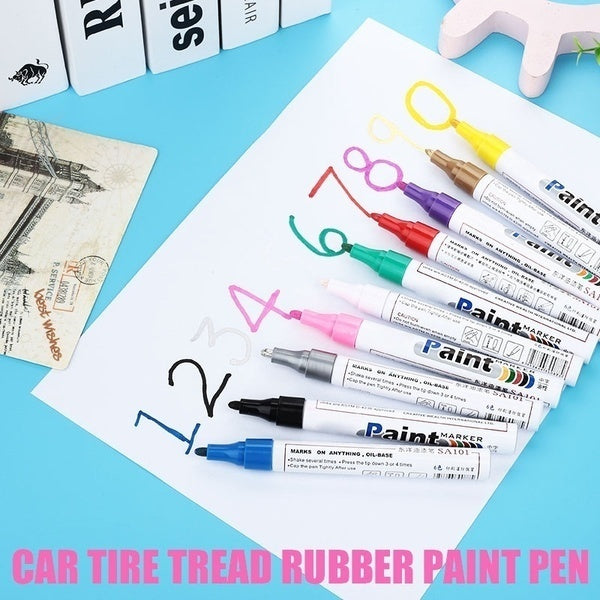 Car tire paint pen Waterproof Permanent Paint Marker Pen(10 colors optional)