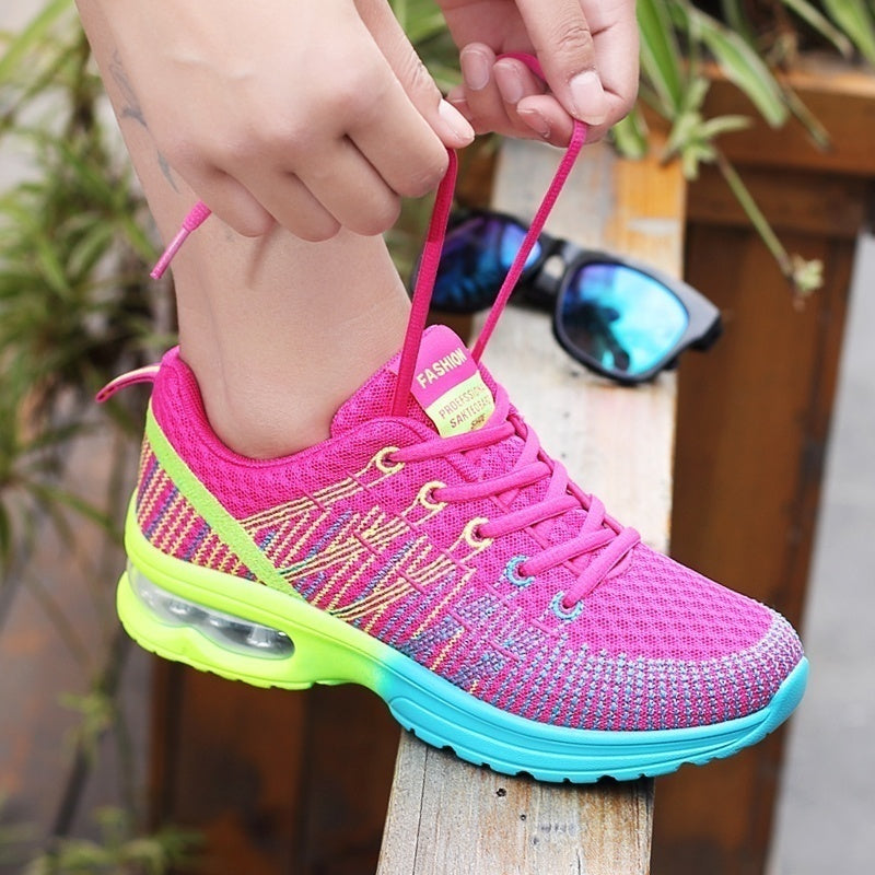 Women's Air Cushion Sneakers Athletics Running Shoes Women Lace Up Casual Sneakers for Tennis/gym/walking (size:35-46)